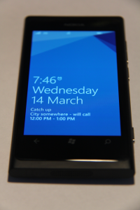 Nokia Lumia 800 - Lock Screen