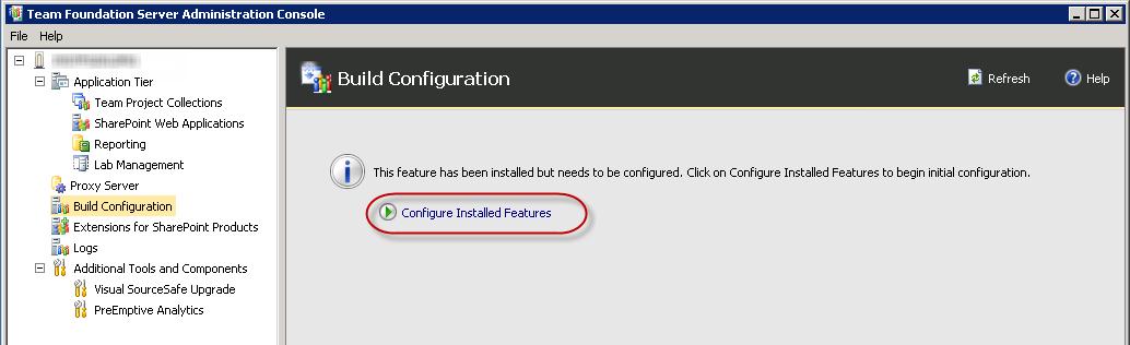 TFS Configure