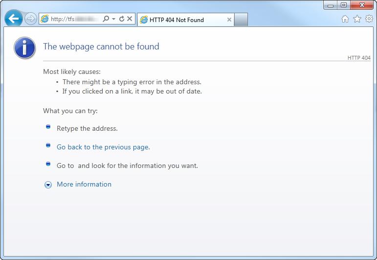 TFS Web - 404