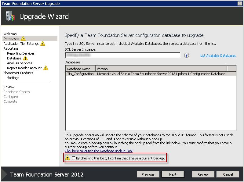 Upgrading the Database