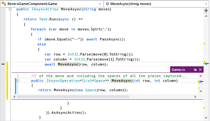 Visual Studio 2013 - Peek
