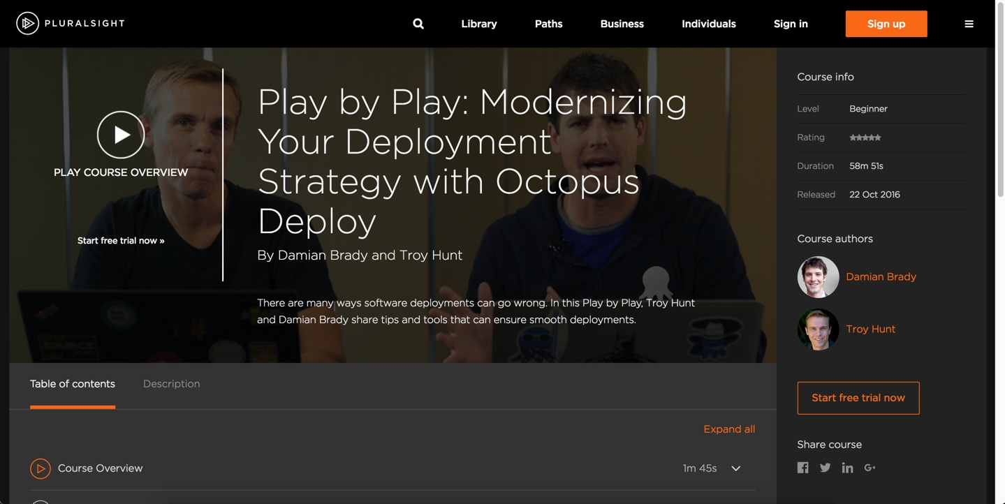 Pluralsight Play by Play with Troy Hunt and me