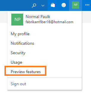 Feature flags for preview features