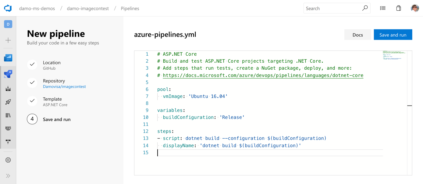 Azure Pipelines YAML - uh, what do I type?